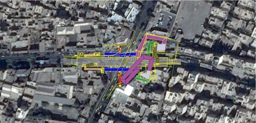 نقشه جانمایی ایستگاه میدان قیام