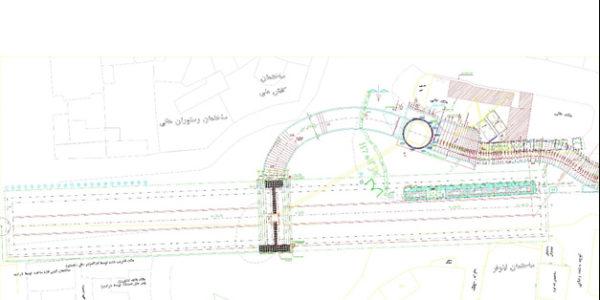 موقعیت پروژه و نقشه همپوشانی با ساختمان کفش ملی